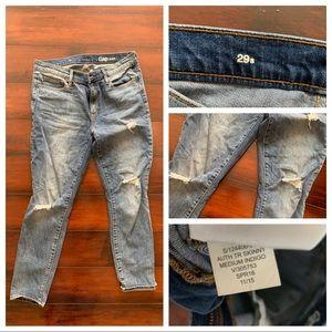Gap destructed skinny jeans